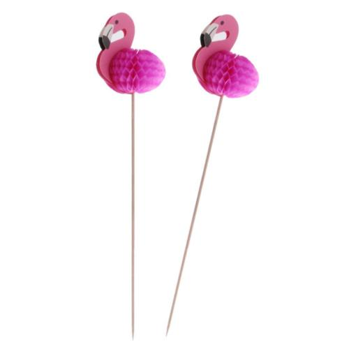 10pcs-Novelty-Flamingo-Cupcake-Picks-Cake-Toppers-Summer-Party-Decoration-0