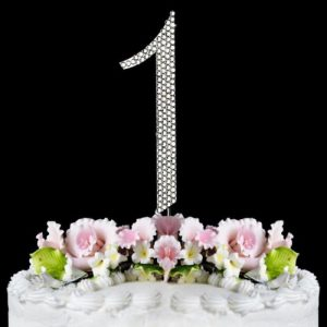 1st Birthday Cake Toppers Baby First Bling Topper