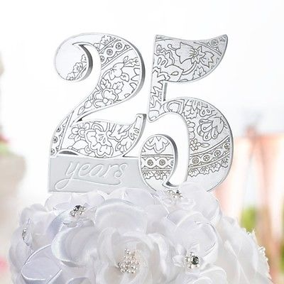 25th-Anniversary-Cake-Pick-Top-Topper-Birthday-Resin-Party-Gift-Celebration-0