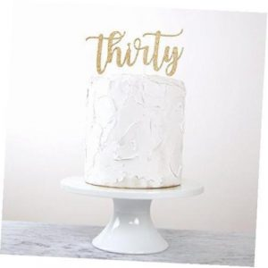 30th Birthday Cake Topper Thirty Premium Quality Made In Usa Gold