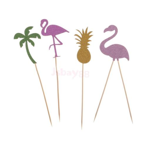 4pcs-Set-Glitter-Flamingo-Pineapple-Cupcake-Picks-Cake-Toppers-Party-Decor-0