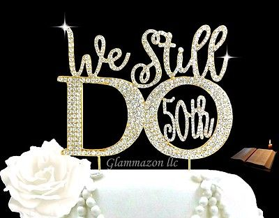 50th Anniversary Cake Toppers - Shop 50th Anniversary Cake Toppers ...