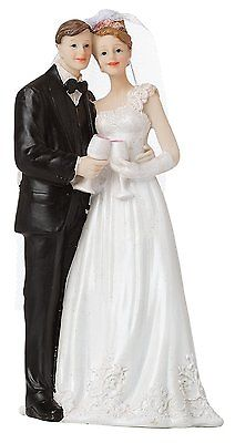 BRUBAKER-Elegant-Wedding-Cake-Topper-Just-Married-Couple-0