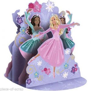 Barbie Birthday Party Centerpiece Decoration 12 New Ballet Dancing Cake Topper
