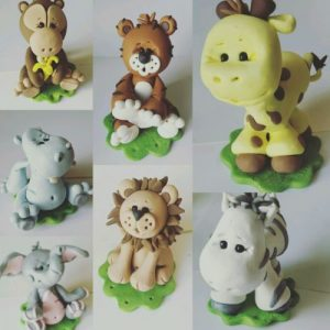 Cake Topper Jungle Animals Baby Shower Or Birthday Choice Of ONE