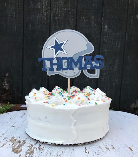 Custom Dallas Cowboy Helmet Cake Topper Center Piece Cardstock Item