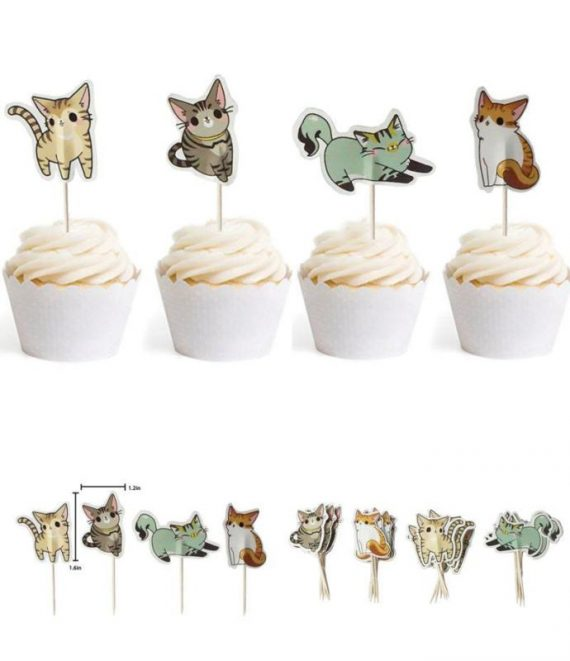 Cute-Cat-Cake-Cupcake-Toppers-Picks-for-Wedding-Birthday-Baby-Shower-Party-De-0