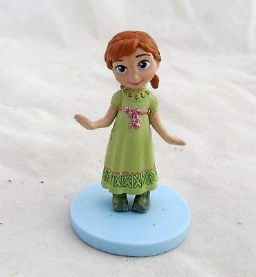 Disney-Frozen-Princess-Anna-Young-Child-Girl-Village-Figure-Figurine-Cake-Topper-0