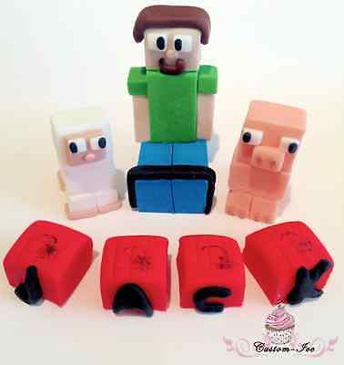 Edible-Minecraft-Steve-Sheep-And-Pig-any-Name-Blocks-unofficial-Cake-Topper-0