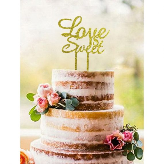 Gold-Love-Is-Sweet-Acrylic-Cake-Topper-Wedding-Party-Engagement-Party-Bridal-0