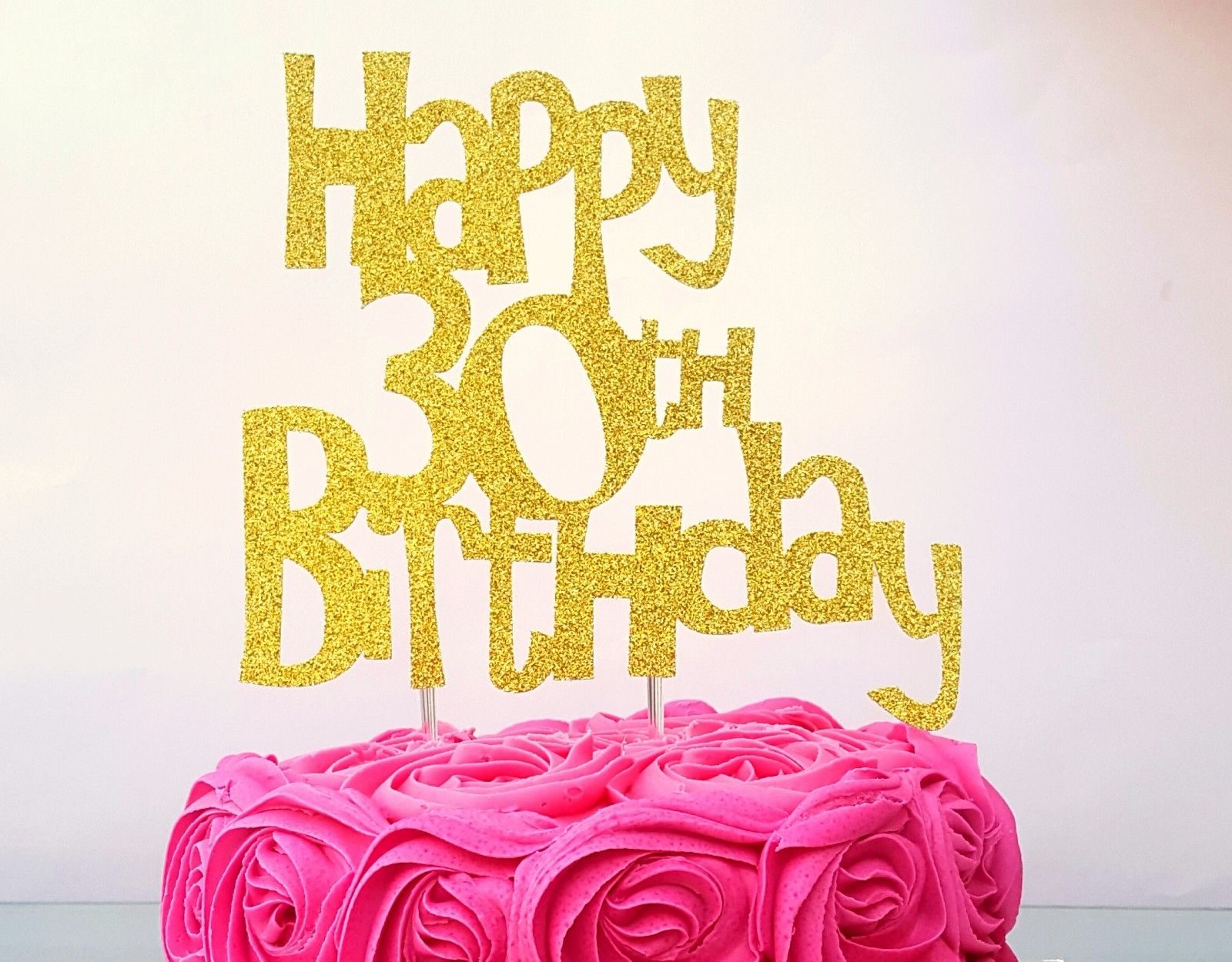 30th Birthday Cake Toppers - Shop 30th Birthday Cake Toppers Online