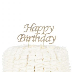 Happy Birthday Cake Topper Party Supplies And Decoration Ideas Gold