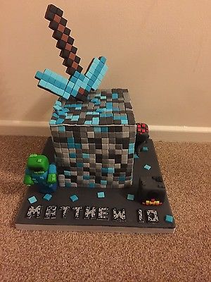 NEW-Minecraft-diamond-mine-cake-topper-set-0