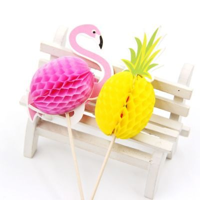 Party-Favors-Craft-3D-Cake-Decor-Birthday-Cupcake-Toppers-FlamingoPineapple-0