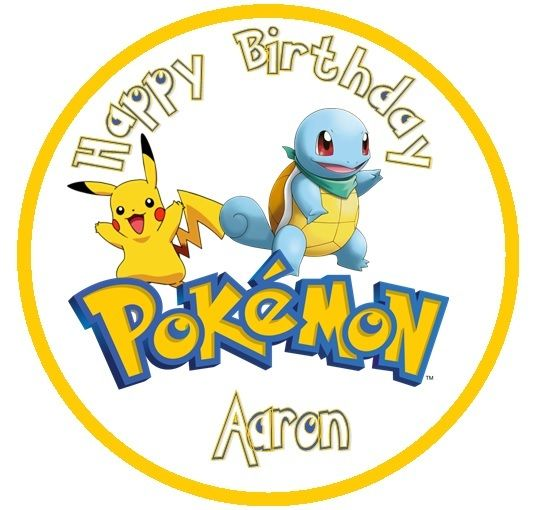 Amazon Pokemon Round Cake Icing Topper