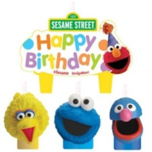 Sesame Street 4 Pc Candle Set Cake Toppers Birthday Party Elmo Big Bird