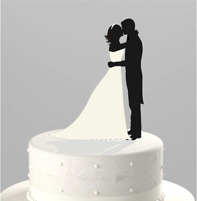 Silhouette-bride-and-groom-figurines-acrylic-Wedding-Cake-Topper-Cupcake-Stand-0