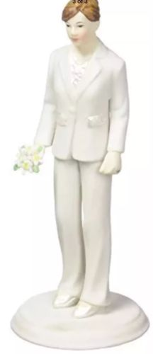 Weddingstar-Fashionable-Bride-in-Elegant-Pants-Suit-Mix-Match-Cake-Topper-New-0