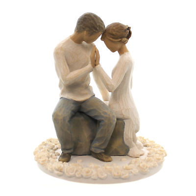 Willow-Tree-AROUND-YOU-CAKE-TOPPER-Polyresin-Wedding-Love-Promise-27342-0
