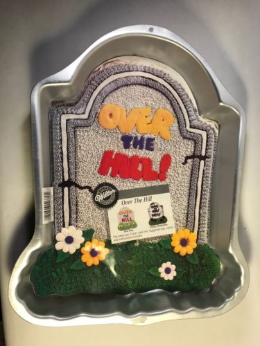Wilton Vintage Cake Pan Over The Hill Creepy Gravestone 1995 2015 1237