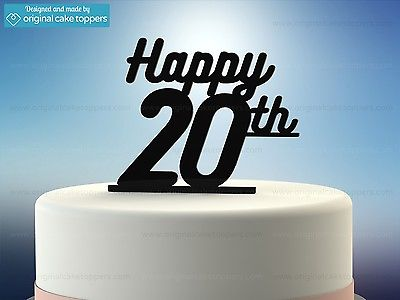 Terrific 20Th Birthday Cake Toppers Shop 20Th Birthday Cake Toppers Online Personalised Birthday Cards Veneteletsinfo