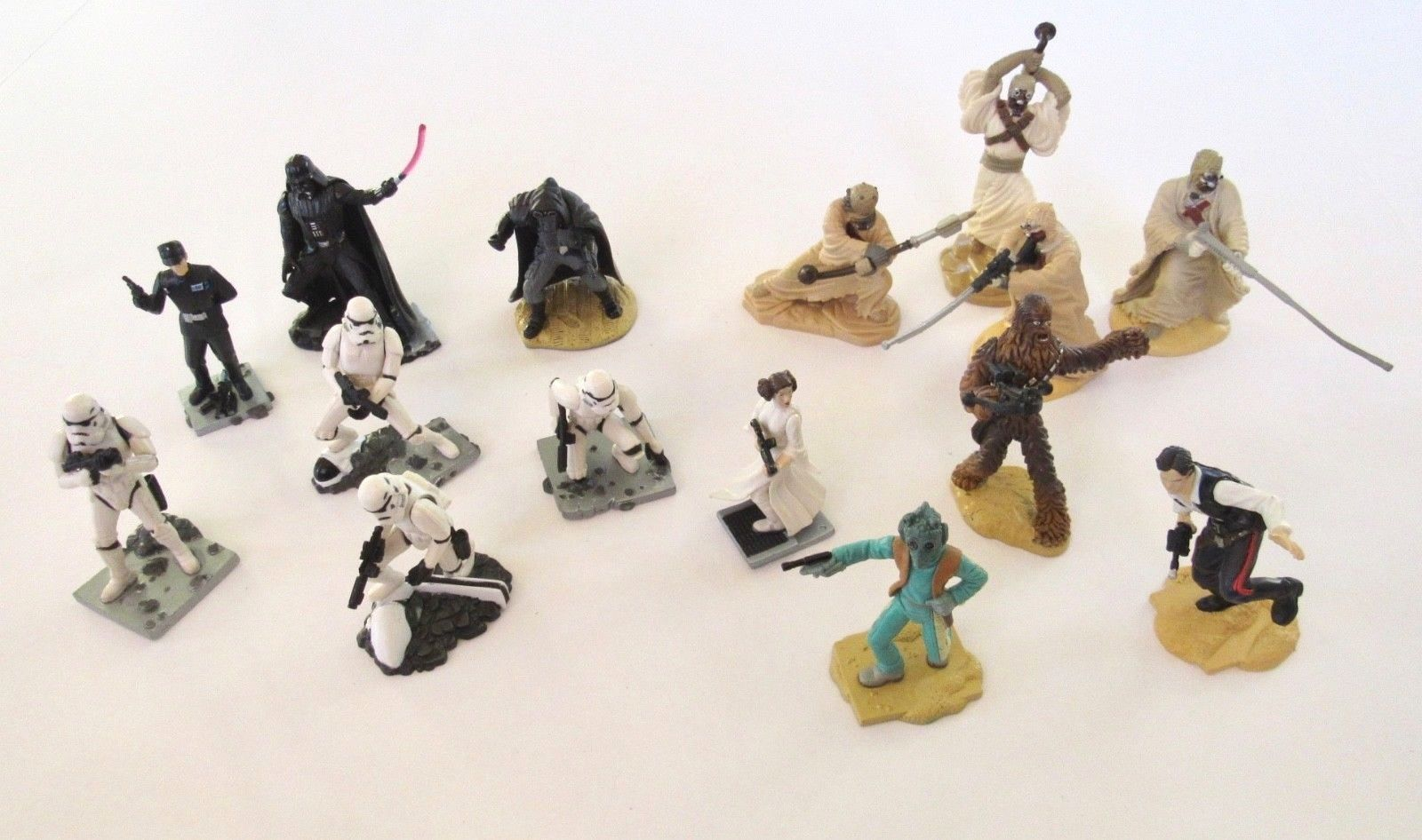 "1.5/"" 2.5/"" FIGURINES LOT OF 9 STAR WARS CAKE TOPPERS"