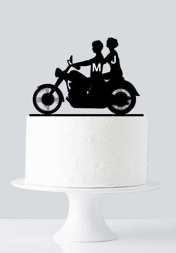 Motorbike Motorcross silhouettes Edible Printed Cake Topper Kit Wafer or Icing