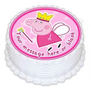 Personalised Birthday Glitter Cake Topper Custom Decoration Peppa Pig George