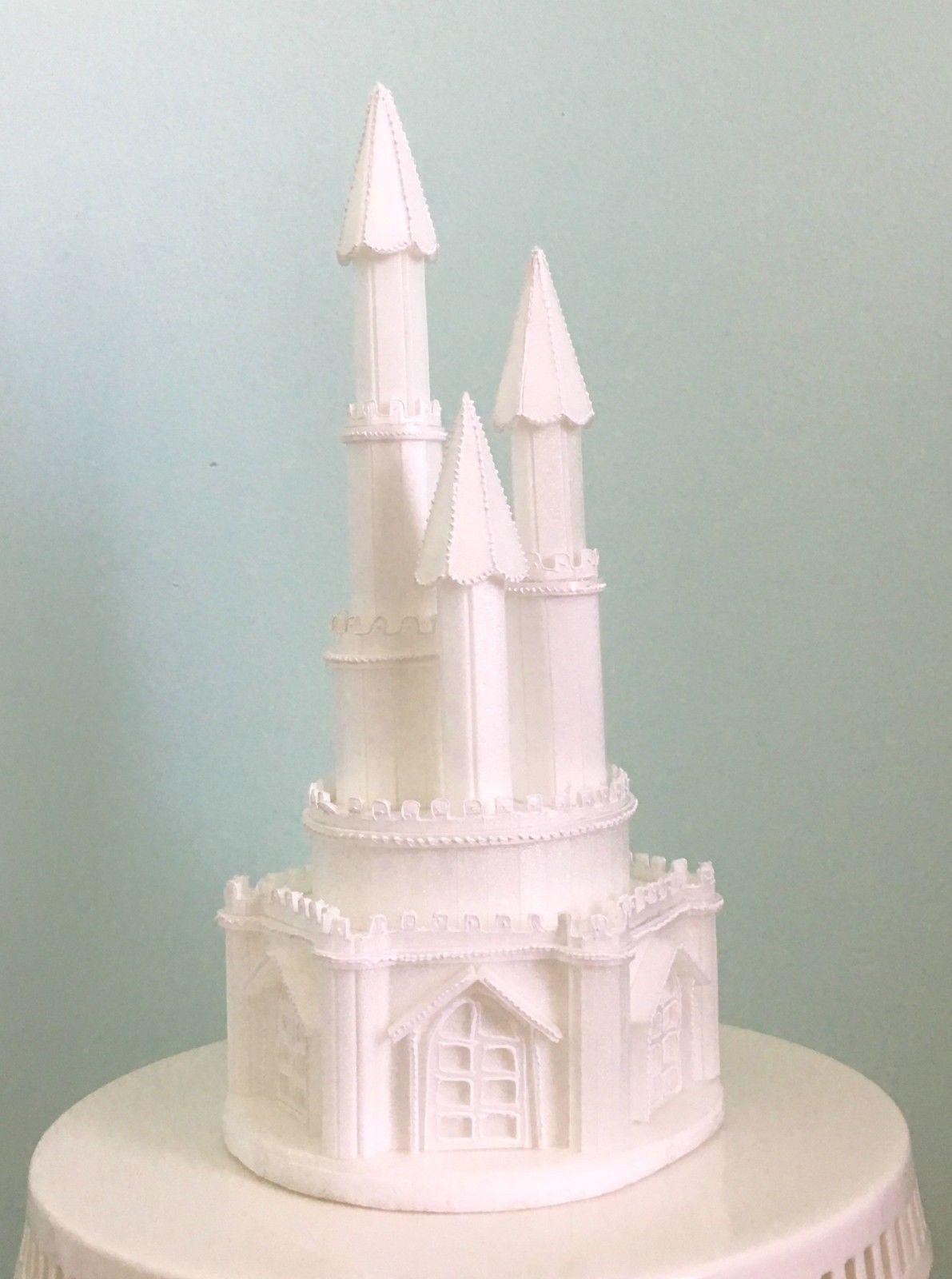 Sleeping Beauty Crystal Heart Wedding Cake Topper Engraved NEW**